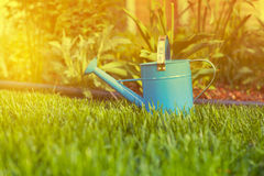 Blue Watering Can Royalty Free Stock Photos