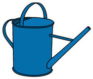 Blue watering can Stock Image