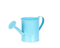 Blue watering can Stock Photo