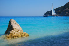 Blue waters. Image of blue waters of greek island of Lefkada Royalty Free Stock Images
