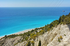 Blue Waters of Gialos Beach, Lefkada Stock Photos