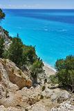 Blue Waters of Gialos Beach, Lefkada, Ionian Islands Royalty Free Stock Photography