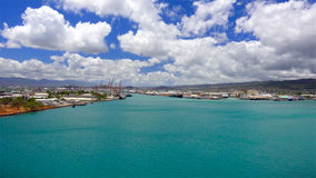 Blue Waters of Honolulu Harbor Oahu Stock Photos