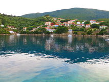 Blue waters of Ithaca Island Stock Photo