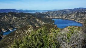 Blue waters of Lake Berryessa Royalty Free Stock Photos