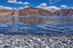 Blue waters with royalty free stock image