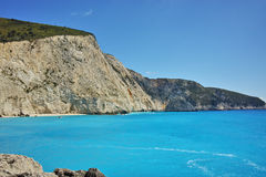 Blue Waters of Porto Katsiki Beach, Lefkada, Greece Royalty Free Stock Photo