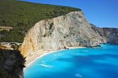 Blue Waters of Porto Katsiki Beach, Lefkada, Ionian Islands Stock Image