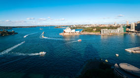 The blue waters of Sydney Harbour in Australia Royalty Free Stock Image