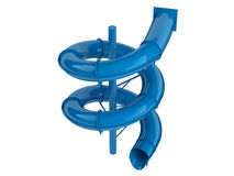 Blue waterslide Stock Images