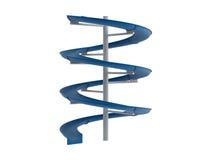 Blue waterslide Stock Photo
