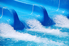 Blue waterslide detail Royalty Free Stock Photos