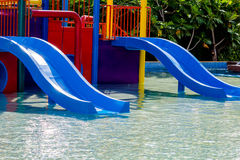 Blue waterslide Royalty Free Stock Photography