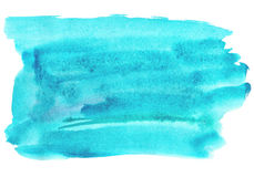 Blue watery illustration. Abstract watercolor hand drawn image.Wet splash.White background vector illustration
