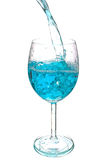 Blue wather in glass Stock Photo