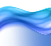 Blue wave. Abstract background of a wave cross section Stock Photography