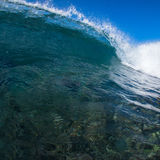 Blue Wave. Blue ocean wave breaking in Maui, Hawaii Royalty Free Stock Images