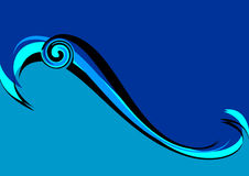 Blue wave. Royalty Free Stock Images