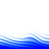 Blue wave abstract Stock Photography