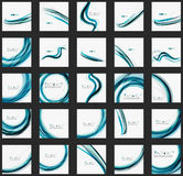 Blue wave abstract background Stock Photography