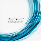 Blue wave abstract background Stock Images