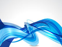 Blue wave abstract background vector illustration Stock Images
