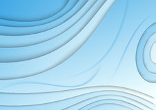 Blue wave - abstract banner Royalty Free Stock Images