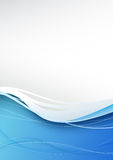 Blue wave abstract modern background Royalty Free Stock Image
