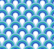 Blue wave abstract seamless background Royalty Free Stock Images