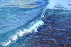 Blue Wave At Sea Royalty Free Stock Photography