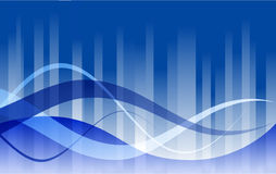 Blue Wave Background. Blue background with wave elements stock illustration