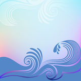 Blue wave background Royalty Free Stock Photography