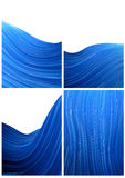Blue wave background Royalty Free Stock Photo