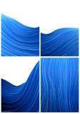 Blue wave background. Four blue wave background stlyes Royalty Free Stock Photo