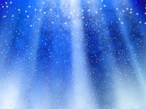 Blue wave background with snowflakes. EPS 8 Stock Image