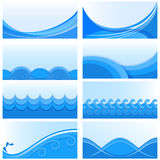 Blue wave backgrounds Royalty Free Stock Photo
