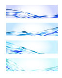 Blue wave banners Stock Photography