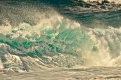 Blue Wave Breaking Stock Images