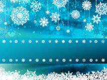 Blue wave christmas with snowflake. EPS 8 Royalty Free Stock Photo