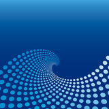 Blue Wave Circle Background Royalty Free Stock Photo