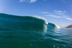 Blue Wave Crashing Swimming Water Royalty Free Stock Images