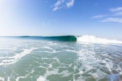 Blue Wave Crashing Swimming Water Stock Image