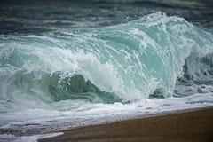 Blue wave crushing Royalty Free Stock Images