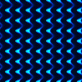Blue wave effect side seamless pattern Royalty Free Stock Photos
