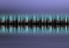 Blue wave form. Blue audio wave form Royalty Free Stock Photo