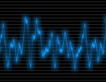 Blue wave form backgrounds Stock Image