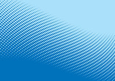 Blue wave halftone pattern Stock Photo