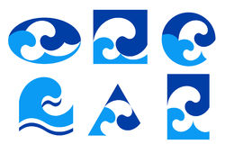 Blue wave icon Stock Photos