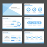 Blue wave infographic element and icon presentation templates flat design set for brochure flyer leaflet website Royalty Free Stock Images