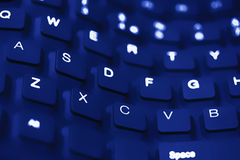 Blue wave keyboard close up Royalty Free Stock Photo